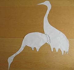 picture of the cutout shape  templates of cranes